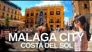 [4K] Malaga, Costa Del Sol (2019) City Walking Tour (with captions)