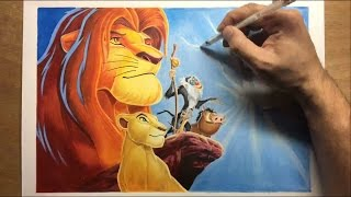Speed Drawing: The Lion King - Timelapse | Artology