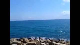 El mar visto desde el puerto de Torrevieja