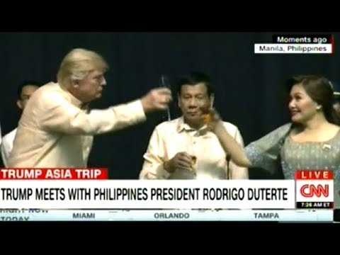 President Trump Dines With Filipino President Duterte In Manila