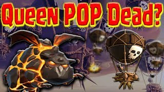 Queen POP LaLoon. Best TH9 Air 3 Star Strategy | Update | Clash of Clans War