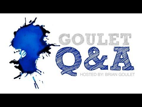 Goulet Q&A Episode 1: Inks for Students, Nib Creep, & Maximum Fills