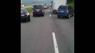 fire truck responding through heavy traffic to minor mva no injuries