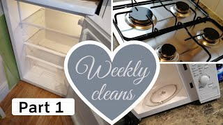 WEEKLY CLEANING ROUTINE/ CLEANING MOTIVATION/ PART 1