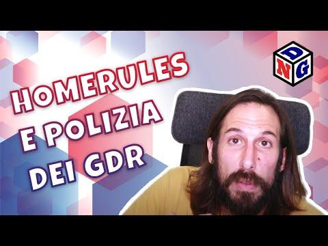 PRANZO DI RUOLO - 24 - Homerules e Polizia dei GDR