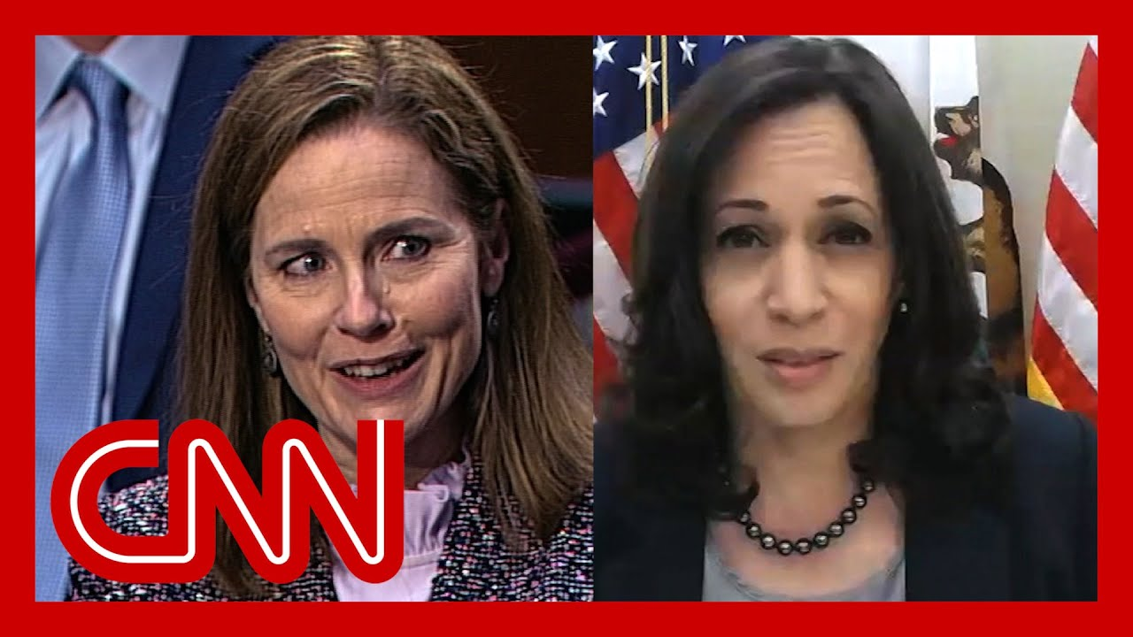 Watch what happened when Harris asked Barrett about climate crisis