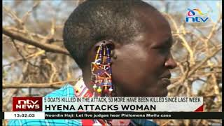 Kajiado woman nursing injuries inflicted by a clan of hyenas