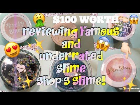 100% Honest Famous & Underrated Slime Shop's Slime Review!!!  ~slimeypandazzz