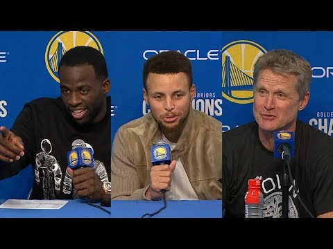 Thumbnail: Warriors react to Steph Curry's incredible performance against Timberwolves | ESPN