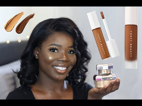 FENTY BEAUTY by RIHANNA Concealer, Setting Powder Review | MsDebDeb