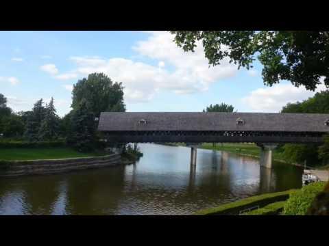 the bridge in German village in USA