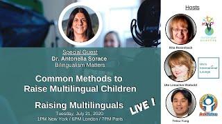 S2: Prof. Antonella Soŗace - Common methods to raise multilingual children
