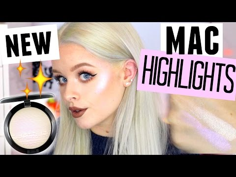 TESTING NEW MAC HIGHLIGHTERS SWATCHES + REVIEW!! | sophdoesnails