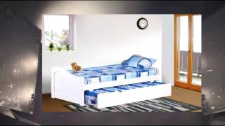 Kings Brand White Finish Wood Twin Size Day Bed (daybed) With Trundle