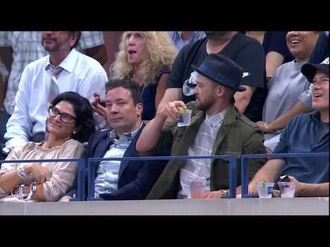 Cover Lagu Jimmy Fallon, Justin Timberlake steal show at US Open STAFABAND