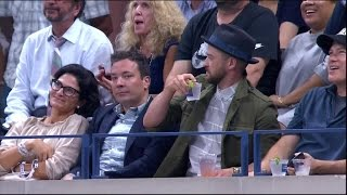 Jimmy Fallon, Justin Timberlake steal show at US Open