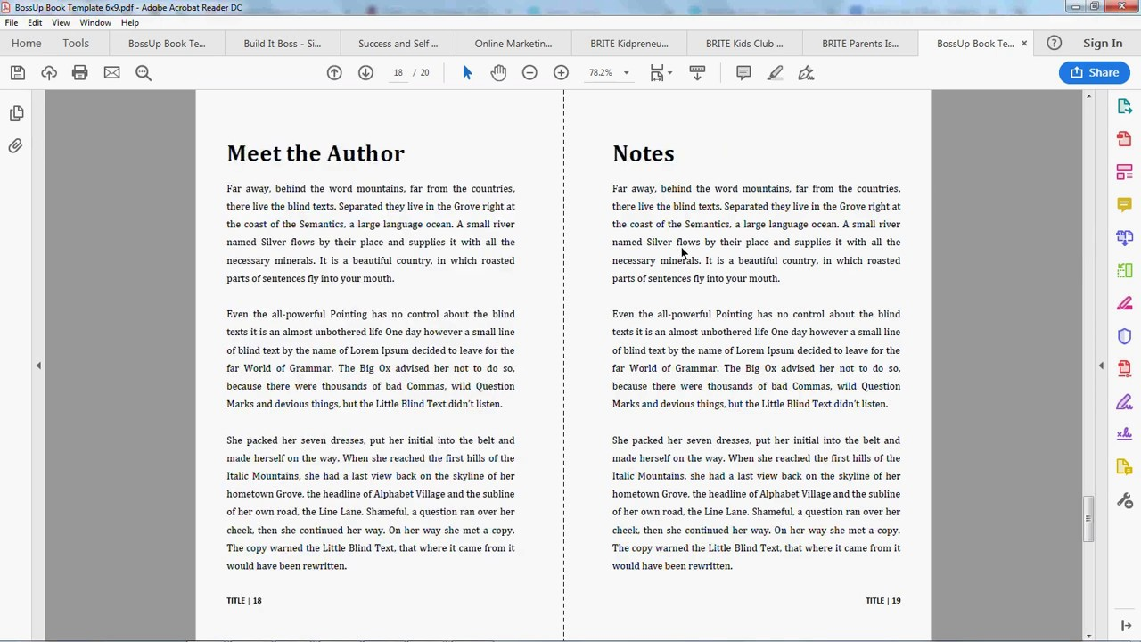Boss Up Book Templates – Self-Publishing Solutions for Bloggers Regarding 6x9 Book Template For Word