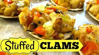 Stuffed Clams with Bay Scallops - Speedy Cooking Videos - PoorMansGourmet