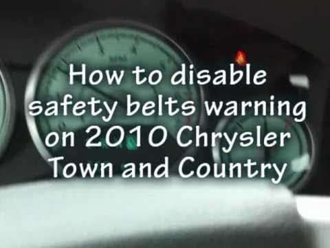 DIY How to disable safety belts warnings on Chrysler 2010 Town