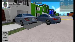 Mercedes Benz C63 AMG and CLA 260 4 MATIC - PEMBROKE PINES IN ROBLOX - happyface123abc - Roblox