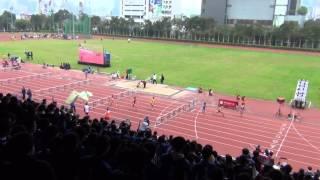 港九區D1中學學界田徑賽 2015-2016 GA 100m