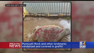 Gambar cover Plymouth Rock And Other Landmarks Vandalized And Covered In Graffiti