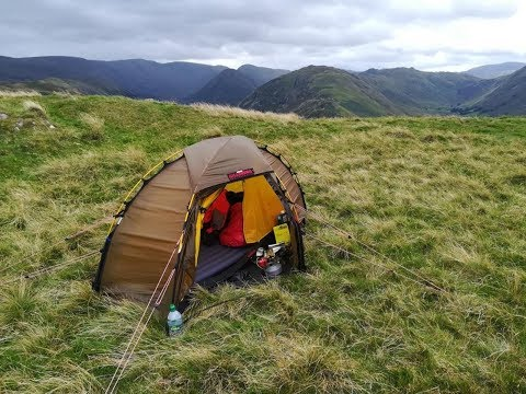 Wild Camping Lake District Hallin Fell Wind And Rain Group Wild Camp