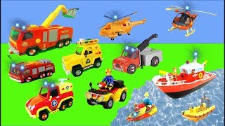 Fireman Sam Unboxing: All the New Jupiter Fire Trucks, Boats, Helicopters For Kids