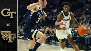 Georgia Tech vs. Wake Forest Men's Basketball Highlights (2019-20)