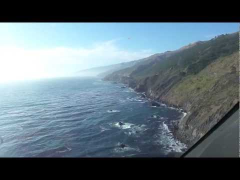 Agusta A109E Power flying Highway 1 through Big Sur