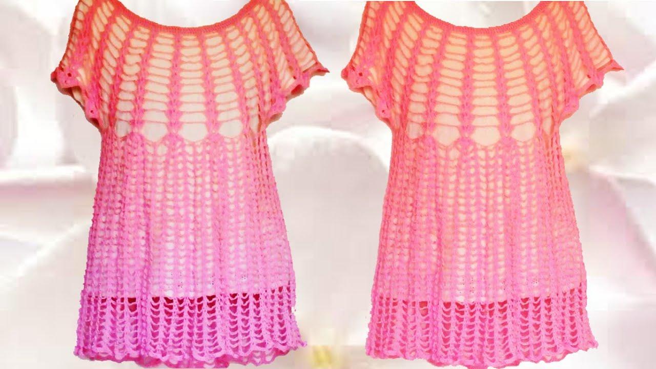 de52ac18b Haz crea teje fácil rápido blusa sin coser en una pieza - Make quick and  easy Knit blouse one piece