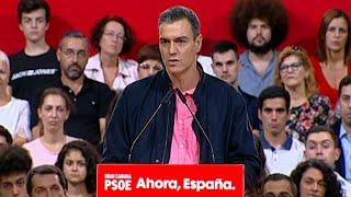 Sanchez critica al independentismo y a Vox por patrimonializar
