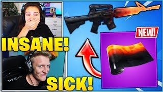 STREAMERS REACT TO *NEW* MAGMA WEAPON WRAP IN FORTNITE!