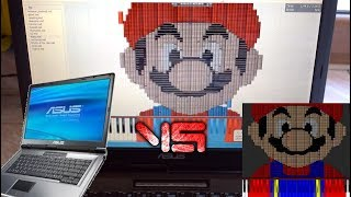 Windows XP Laptop vs Dark MIDI - Super Mario Bros theme