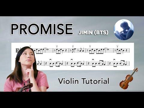 """Promise"" Jimin (지민) EASY VIOLIN TUTORIAL (w/Sheet Music) thumbnail"