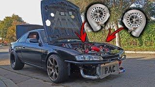 Ebay twin turbo ls swapped nissan s14 ! (240sx)