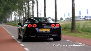 Corvette C6 Z06 + Aston Martin DBS - LOUD sounds!! - 1080p