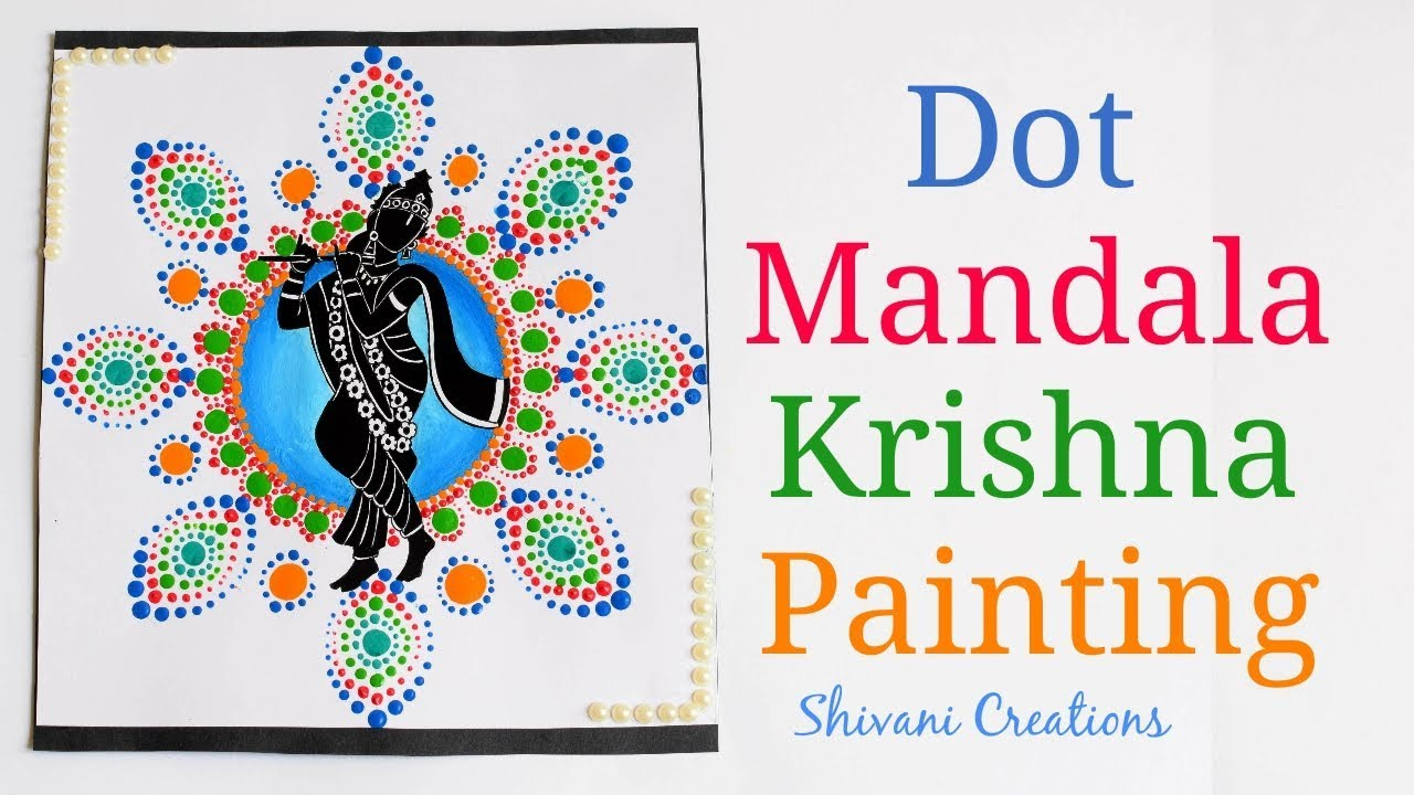 RECYCLABLES BLOG: Dot Mandala Krishna Painting/ How to make
