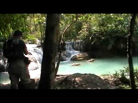 Around the globe Del 20 Laos - Kouang Si vattenfall