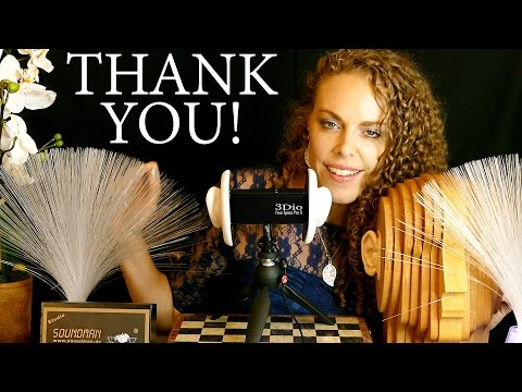 Special Behind-the-Scenes ASMR Thanks You! New Binaural Microphones! Ear to Ear Whisper