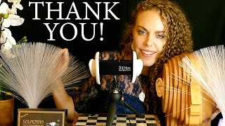 special behind the scenes asmr thanks you new binaural microphones ear to ear whisper