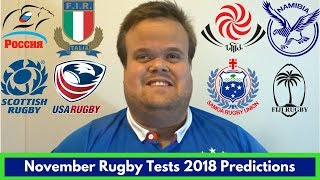 November Rugby Tests 2018 | Week 2 Predictions