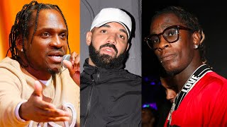 "Young Thug Calls Pusha T Out For Dissing Drake On Pop Smoke's Album... ""U Clout Chasing & Can't Rap"""