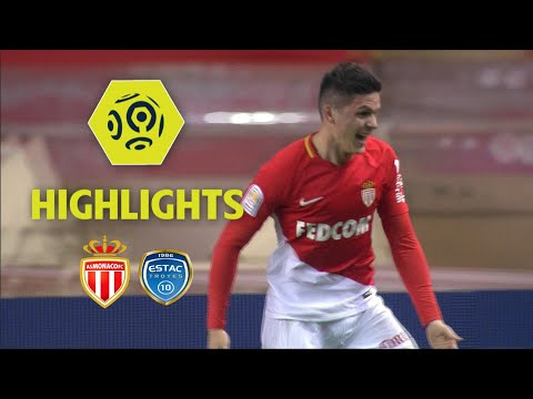 AS Monaco - ESTAC Troyes (3-2) - Highlights - (ASM - ESTAC) / 2017-18