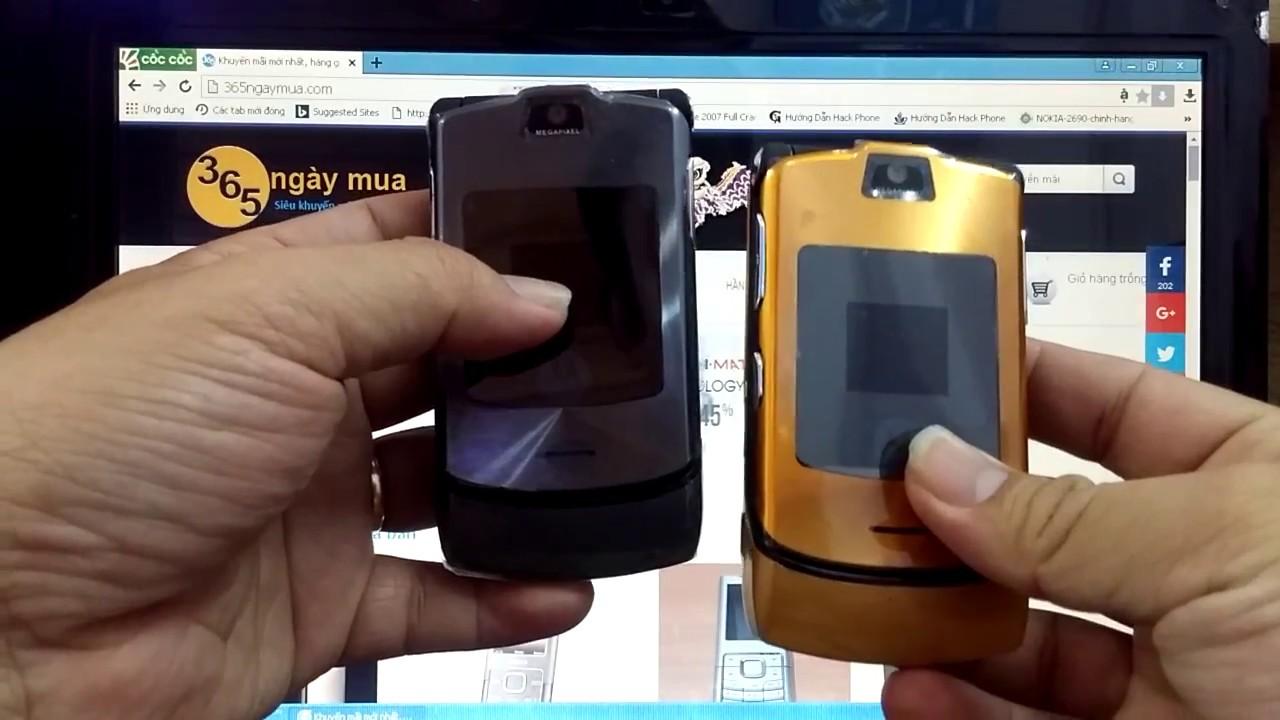 Điện thoại cổ Motorola V3i chính hãng tồn kho chỉ có tại http://365ngaymua .com