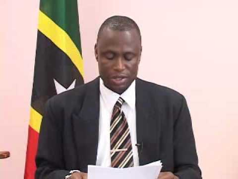 St. Kitts & Nevis Post-Cabinet Briefing by Nigel Carty (April 12, 2010)