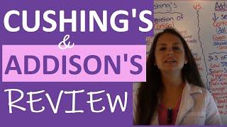 Cushings and Addisons Nursing | Addison's Disease vs Cushing's Syndrome Nursing | Endocrine NCLEX