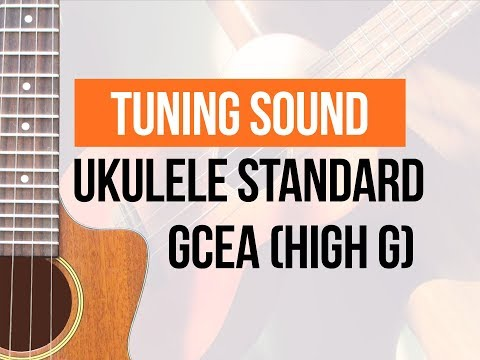 Standard ukulele tuning / High G / C6 - Sound of loose strings