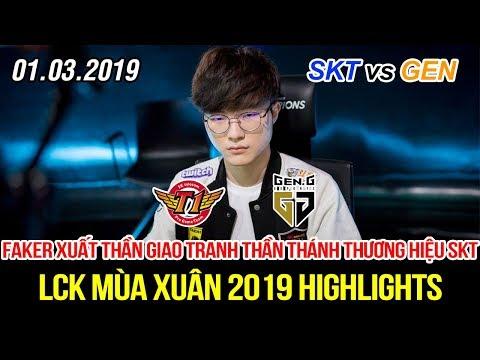 [LCK 2019] SKT vs GEN Game 2 Highlights | Faker Lissandra đỉnh cao với pha giao tranh thần thánh
