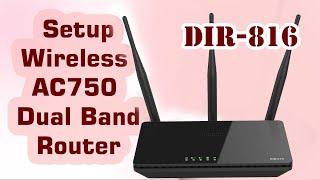 Як налаштувати ДЛИНК стандарту ac750 дводіапазонний бездротовий маршрутизатор dir-816